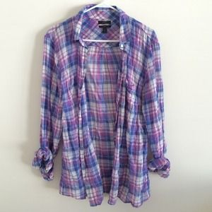 JCREW crinkle boy shirt in orchid size 10