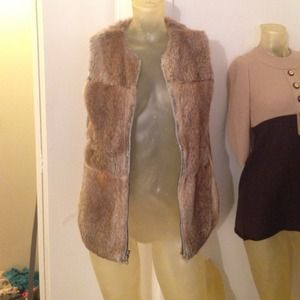 Tops - Real rabbit fur vest hippy festival
