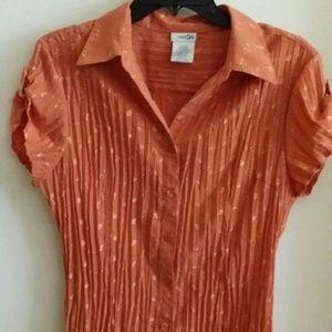 Tops - Burnt orange career blouse