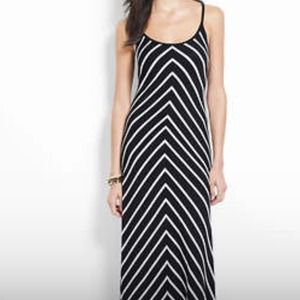 Ann Taylor, black & white maxi dress
