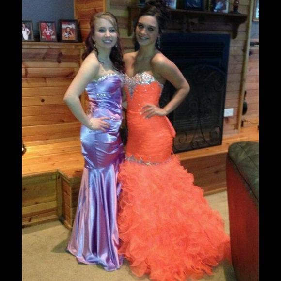 Bright Orange Mermaid Prom Dresses 50% off Dresses & ...