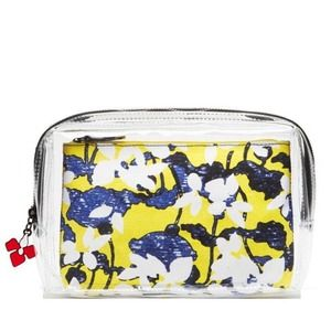 Peter Pilotto Clear & Green Floral Pouch Set