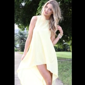Sabo Skirt Long Tail Dress - Yellow