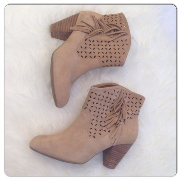 Jessica Simpson Boots - 🆕Jessica Simpson Camel Fringe Booties NWOB