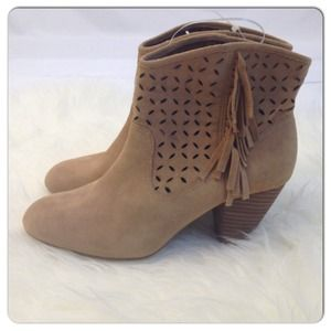 Jessica Simpson Shoes - 🆕Jessica Simpson Camel Fringe Booties NWOB