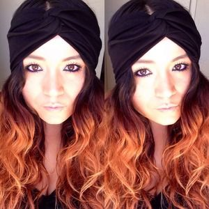 Faux turban in solid black