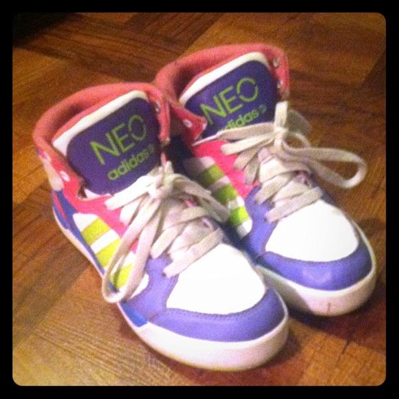 Zapatillas adidas neo High Tops multi - color Raleigh poshmark
