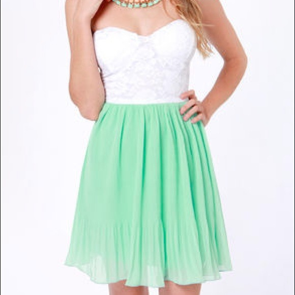 33 off dresses amp skirts white and mint green dress from