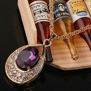 Beautiful Purple Amethyst Fashion Necklace