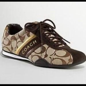 coach sale coach brown tennis shoes new with box from