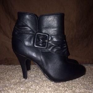 Forever 21 Black Heeled Booties