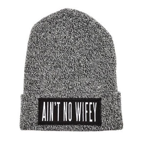 a8a9540ca5de1 DIMEPIECE - Ain t No Wifey Beanie (Heathered Grey)