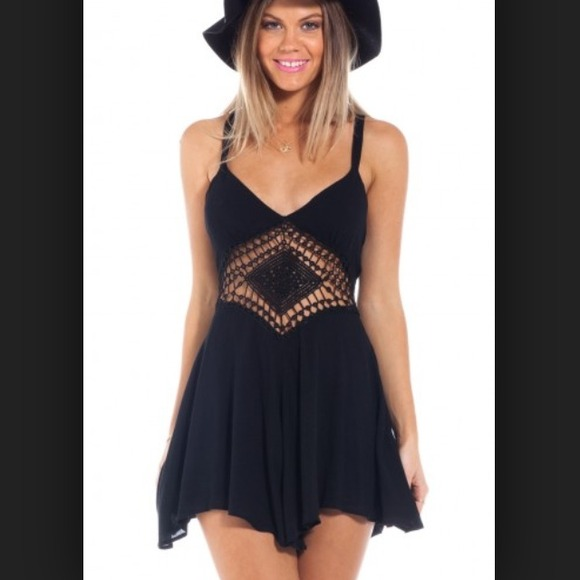 showpo - LF style Black crochet romper from Skylars closet on ...