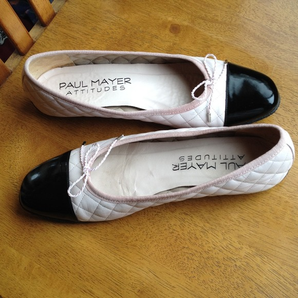Paul Mayer Cozy Quilted Ballet Flats