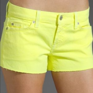7 for all mankind yellow shorts