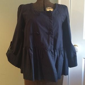 Blue cotton  anthropologie jacket