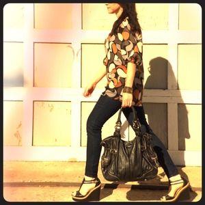 bebe Handbags - Bebe Genuine Leather Black Handbag