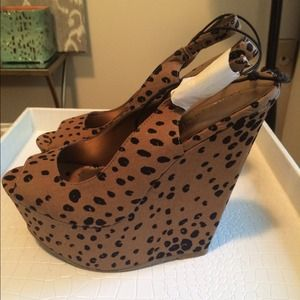Forever 21 Shoes - New Animal Leopard Print Slingback wedges | 8