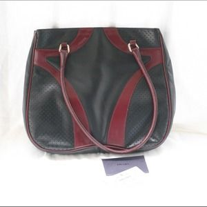 Prada leather black and burgundy