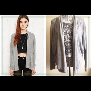 Urban Outfitters Ecote slouchy grey drape cardigan