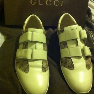 cb1cdd6a0dc Gucci Shoes - 100% Mens Authentic Velcro Strap Gucci Sneakers