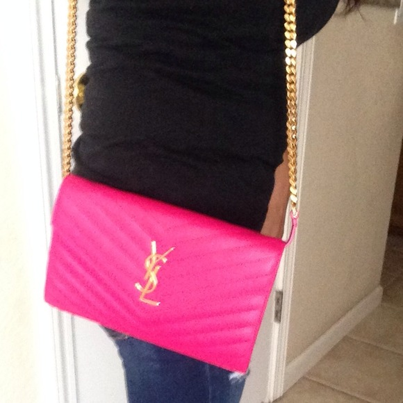 50% off Yves Saint Laurent Clutches \u0026amp; Wallets - Monogram YSL chain ...