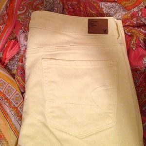 American Eagle Outfitters Yellow Skinny Jeans