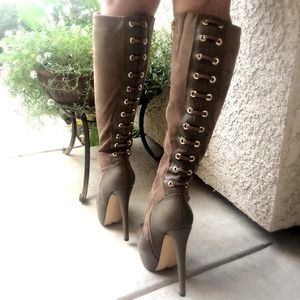 LUICHINY/RAQUELLE -TAUPE Knee high boots