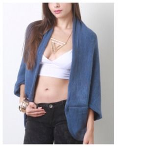 Outerwear - 30% OFF TODAY Powder Blue Dolman Open Cardigan