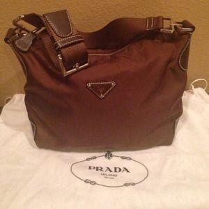 Prada nylon small tote bag!!