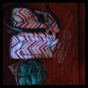 Clutches & Wallets - Thirty One wallet plus free purse clip.