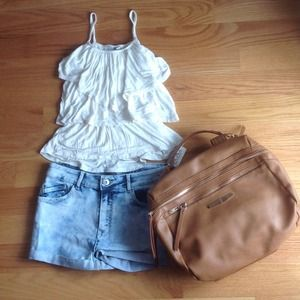 Ivory Layered Ruffled Tank Top