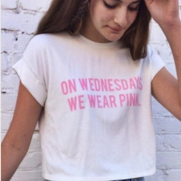 e9a0051c Brandy Melville Tops - on Wednesdays we wear pink brandy melville shirt