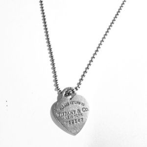 Tiffany & Co dog tag necklace