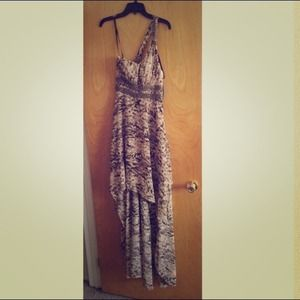 GUESS Animal Print with Beaded Waist Dress NWT