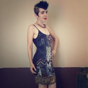 All Saints Dresses & Skirts - All Saints sequined dress w zig zag pattern
