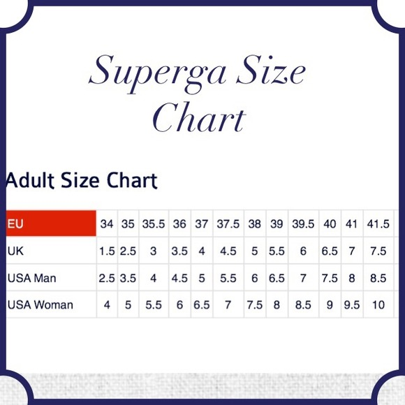 52 off superga shoes superga size chart sizing differs from