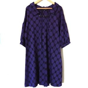 Purple polka dress