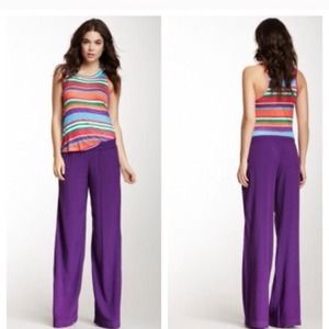 Splendid Pants - Splendid Purple Woven Pull Over Pants