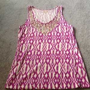 Tops - 🎉HP 9/27🎉 Printed and embellished tank