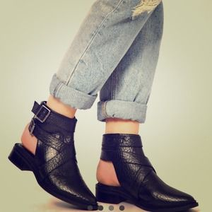 ASOS Cutout Ankle Booties