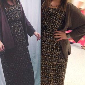 Tribal maxi-dress