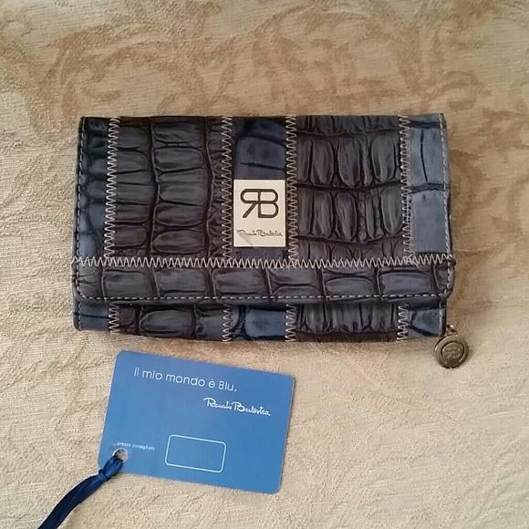 b09adb7df52c Authentic Renato Balestra leather wallet