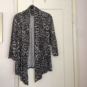 Black and Grey Cheetah Cardigan!