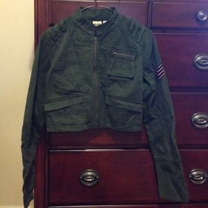 Mudd Cropped Military Jacket