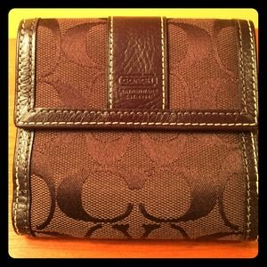 Chocolate Coach square wallet