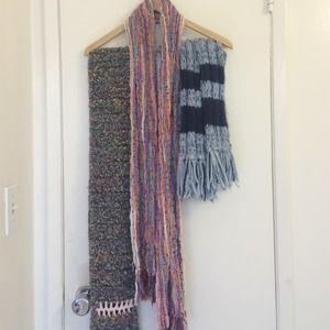 3 knit scarves!!!!!