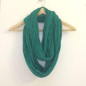 Emerald green infinity scarf