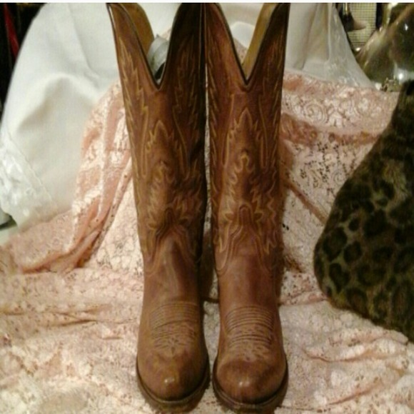 99% off Old West Boots - Cowgirl genuine leather boots real ...