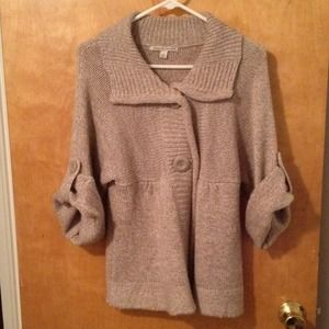 Carolyn Taylor Sweaters - Knit Swear with rolled sleeves & button closures.